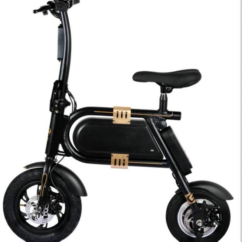 electric bike bicycle mini electric power portable smart folding 12 inch bike lithium battery. Black Bedroom Furniture Sets. Home Design Ideas