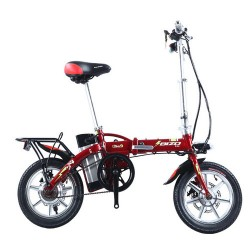 BIZOBIKE SPORT 48v 8AH Electric Folding City Bike Road Bicycle With 250w Hub Motor