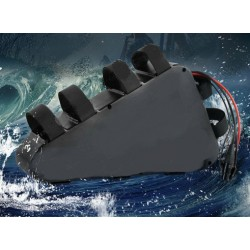 US EU AU No Tax New Arriver Plastic Case Triangle Battery 48V 14Ah Electric Bicycle Li ion Batteria for 8FUN 1000W eBike Motor