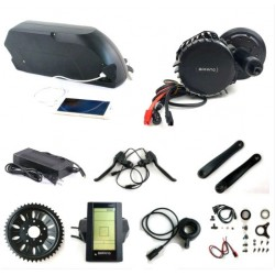 Bafang BBSHD 48V 1000W eBike Motor BBS03 8fun mid drive electric bicycle conversion kit with 48V 14.5AH E-Bike frame battery