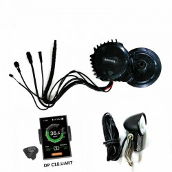 New Version Bafang 8Fun BBSHD Mid Drive Central Motor 48V 1000W Ebike Kits With Light&Gear Sensor Connectors,6V light included