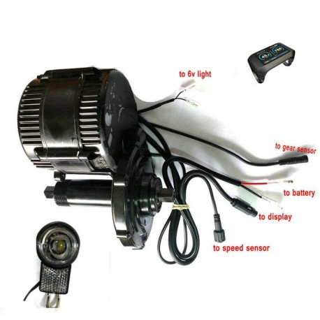 8fun/bafang Motor P850c Lcd Bbs02b 48v 750w Latest Controller Crank Engine Eletric Bicycles Trike Ebike Kits