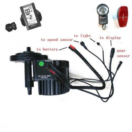 8Fun Bafang BBSHD BBS03 Mid Drive Motor 48V 1000W 46T Ebike Kits With C965 LCD Display