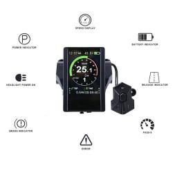 Electric Bicycle Indicator P850C 850C Full Color LCD Display For Bafang Mid Hub Motor 36V 48V 52V 60V E-bike Parts With USB CE