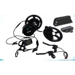 BBS02 8fun /bafang ebike motor 48v 750w mid drive electric bike bicycle motor+ battery