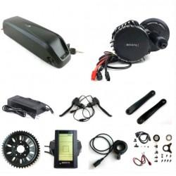 US EU No Tax 48V 1000W C965 BBSHD/BBS03 8Fun /Bafang mid crank drive motor kit with 48V 11.6Ah lithium ion Hailong eBike Battery