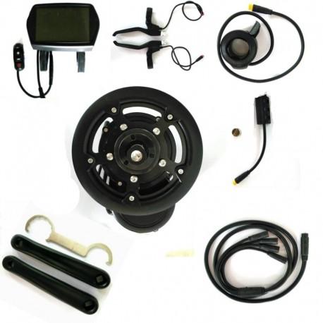 Free shipping EBBS02 DIY Conversion ebike Kit MidMotor,Torque Sensor 36V 500W High Speed Electric Bike Motor