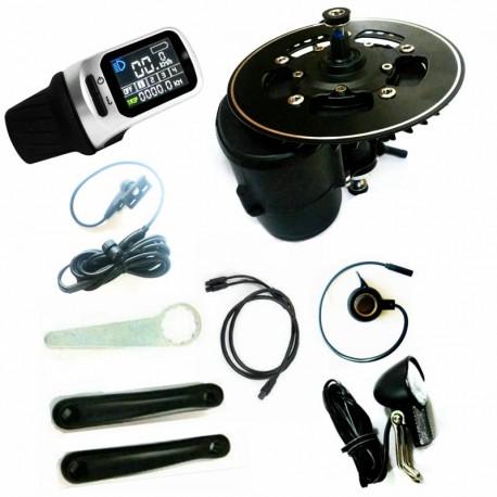 Free Shipping TSDZ2 Midmotor XH18 36V 500W TONGSHENG electric bicycle Kit Torque Sensor 6V Head light included