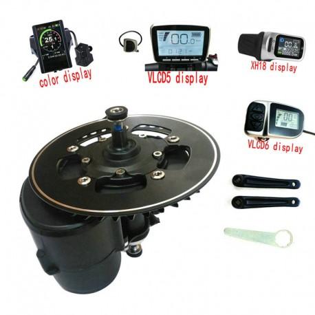 Tongsheng TSDZ2 Mid Drive Motor Conversion ebike Kit,Torque Sensor 36V 350W XH18 Display High Speed Electric Bike Motor